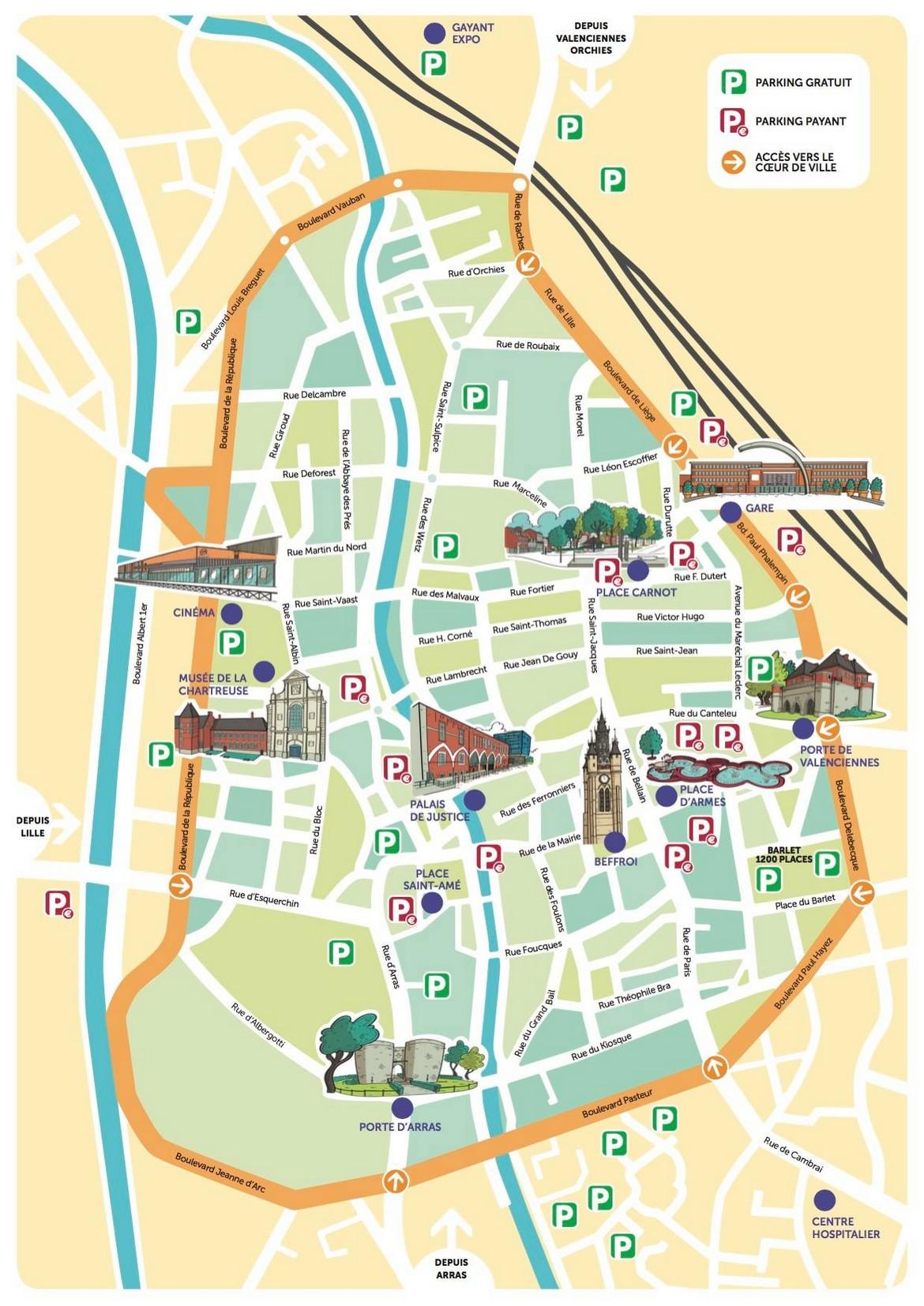Ville De Douai Plan
